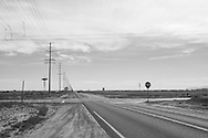 Quiet intersection on a country road. Antelope Valley, CA 3.14.15