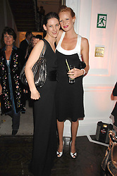 Left to right, MARIA GRACHVOGEL and OLIVIA INGE at a party to launch Links of London's Watch Collection at Il Bottacio, 9 Grosvenor Place, London on 25th September 2007.<br />
