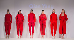 © Licensed to London News Pictures. 01/06/2015. London, UK. Collection by Qian Yang. Fashion show of the University of Brighton at Graduate Fashion Week 2015. Graduate Fashion Week takes place from 30 May to 2 June 2015 at the Old Truman Brewery, Brick Lane. Photo credit : Bettina Strenske/LNP