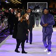 Samuel L. Jackson attends Premiere of M. Night Shyamalan's superhero thriller Glass, which follows Unbreakable and Split on 9 January 2019, London, UK.