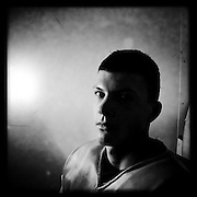 Ice Men Cometh… Aleksandar Todorov, 19, Bulgaria..An iPhone portrait series on young men competing in the 2012 IIHF Ice Hockey World Championships Division 3. The tournament  was contested by countries New Zealand, Iceland, China, Bulgaria and Turkey at Dunedin Ice Stadium. Dunedin, Otago, New Zealand. 17th January 2012. Photo Tim Clayton