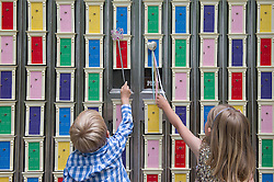 © London News Pictures. 24/06/15. London, UK. 150 magic doors are installed in London's Garden Museum to allow fairies from across the Globe to gather for their annual conference, Central London. Photo credit: Laura Lean/LNP