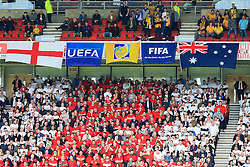 England and Australia flags hang in the stand - Mandatory by-line: Matt McNulty/JMP - 27/05/2016 - FOOTBALL - Stadium of Light - Sunderland, United Kingdom - England v Australia - International Friendly