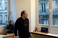 The italian artist Lorenzo Mattotti in his Paris studio.<br /> Paris, France. 06/12/2005