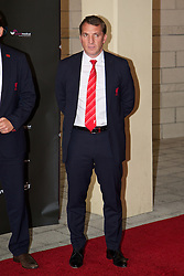 LIVERPOOL, ENGLAND - Tuesday, May 6, 2014: Liverpool's manager Brendan Rodgers arrives on the red carpet for the Liverpool FC Players' Awards Dinner 2014 at the Liverpool Arena. (Pic by David Rawcliffe/Propaganda)