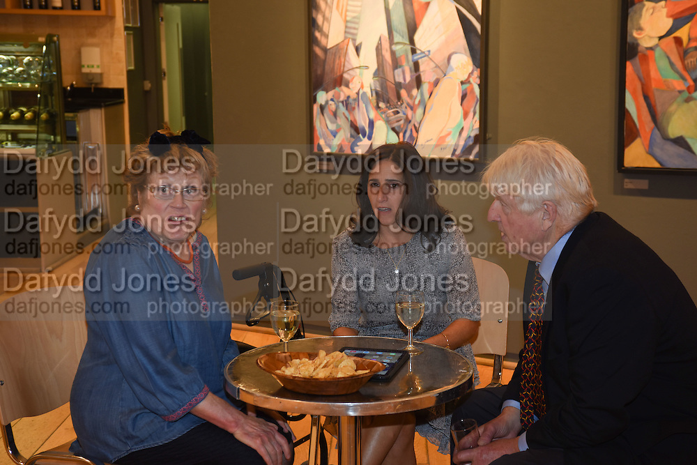 CHARLOTTE JOHNSON WAHL; MARINA JOHNSON; STANLEY JOHNSONExhibition opening of paintings by Charlotte Johnson Wahl. Mall Galleries. London, 10 September 2015.
