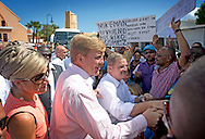20-11-2013 ARUBA – SINT NICOLAS- King Willem Alexander of the Netherlands and Queen Maxima at Aruba they arrive in Sint Nicolas for a Youth debat. They will visit all the 6 Dutch Islands. The royal couple will visit the Caribbean . COPYRIGHT ROBIN UTRECHT