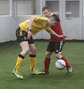 Fife Thistle (yellow) v Guardbridge - Dundee Saturday Morning FA Wintertoto 5 a sides at Soccerworld<br /> <br />  - &copy; David Young - www.davidyoungphoto.co.uk - email: davidyoungphoto@gmail.com