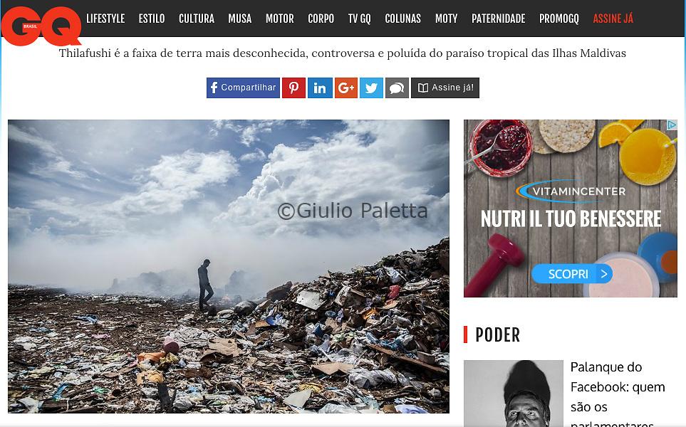 """Ilha do lixo"", published in GQ Magazine, Brazil, June 2017"