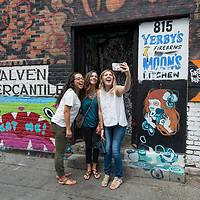 Downtown shoot for Admissions Viewbook, Allison Corona photo