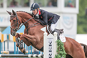 BILLY THE RED ridden by Kristina Cook  competing in the show jumping at Bramham International Horse Trials 2016 at  at Bramham Park, Bramham, United Kingdom on 12 June 2016. Photo by Mark P Doherty.