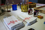 Traditional Malaysian teacloths called Goodmorning Towels on display in Nala Designs in Bangsar, Kuala Lumpur, Malaysia, on 18 August 2015. Nala Designs, by founder and designer Lisette Scheers, is inspired by Malaysia's melting pot of Chinese, Malay and Indian cultures. Photo by Suzanne Lee for Monocle