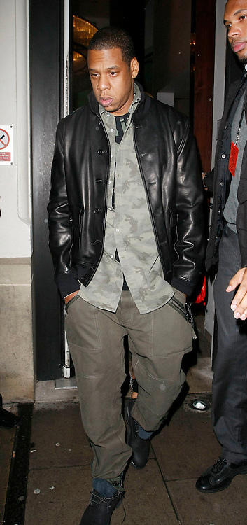 22.JANUARY.2010        LONDON<br /> <br /> A VERY TIRED LOOKING JAY Z ATTENDS THE HOSPITAL CLUB IN COVENT GARDEN LONDON AFTER PARTICIPATING IN THE HELP FOR HAITI CAUSE. CELEBS ALL OVER WORLD PERFORM TO RAISE MONEY FOR THE LATEST DISASTER TO SHOCK THE WORLD IN HAITI IN THE CARIBBEAN.<br /> <br /> BYLINE MUST READ : EDBIMAGEARCHIVE.COM<br /> <br /> *THIS IMAGE IS STRICTLY FOR UK NEWSPAPERS AND MAGAZINES ONLY FOR WORLD WIDE SALES AND WEB USE PLEASE CONTACT EDBIMAGEARCHIVE - 0208 954 5968