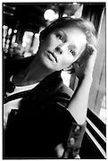Portrait of Christine Boisson, actress, Paris, 1989.