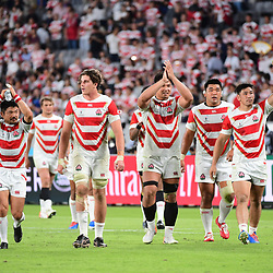 Japan on a lap of honour after winning the Rugby World Cup 2019 Group A match between Japan and Russia on September 20, 2019 in Tokyo, Japan. (Photo by Dave Winter/Icon Sport) - --- - Ajinomoto Stadium - Chofu (Japon)