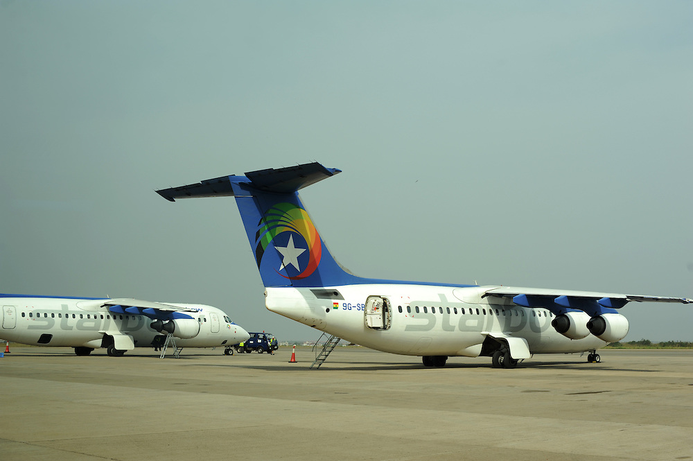 12-02-06  --  ACCRA, GHANA -- Starbow airplanes at Kotoka International Airport in Accra, Ghana.  Photo by Daniel Hayduk