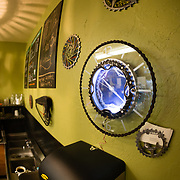 The interior of Fitzgerald's Bike and Coffee Shop in Victor, Idaho.