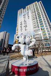PYEONGCHANG-GUN, SOUTH KOREA - FEBRUARY 08:  Official Mascot ahead of the PyeongChang 2018 Winter Olympic Games at Olympic Village on February 8, 2018 in Pyeongchang-gun, South Korea. Photo by Kim Jong-man / Sportida