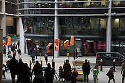 Commuters arriving at Cannon St. London. 2 February 2017