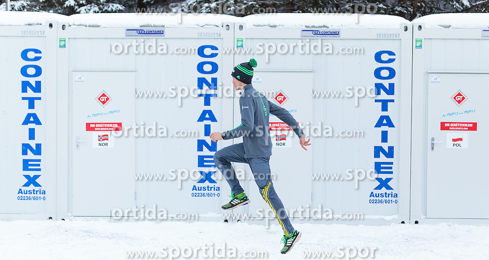 16.01.2016, Kulm, Bad Mitterndorf, AUT, FIS Skiflug WM, Kulm, Vorbereitung, im Bild Peter Prevc (SLO) // Peter Prevc of Slovenia prepares before the trial Jump of FIS Ski Flying World Championships at the Kulm in Bad Mitterndorf, Austria on 2016/01/16. EXPA Pictures © 2016, PhotoCredit: EXPA/ EXPA JFK