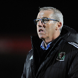19/3/2019 - Wales manager Mark Jones during the C International between England and Wales at the Peninsula Stadium, Salford.<br /> <br /> Pic: Mike Sheridan/County Times<br /> MS023-2019