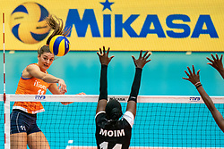 03-08-2019 ITA: FIVB Tokyo Volleyball Qualification 2019 / Netherlands, - Kenya Catania<br /> 3rd match pool F in hall Pala Catania between Netherlands - Kenya. Netherlands win 3-0 / Anne Buijs #11 of Netherlands