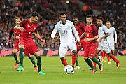 England forward, Daniel Sturridge (15) in the box during the Friendly International match between England and Portugal at Wembley Stadium, London, England on 2 June 2016. Photo by Matthew Redman.