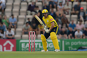 Liam Dawson of Hampshire batting during the Vitality T20 Blast South Group match between Hampshire County Cricket Club and Middlesex County Cricket Club at the Ageas Bowl, Southampton, United Kingdom on 20 July 2018. Picture by Dave Vokes.