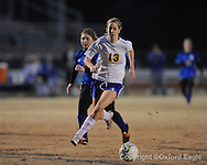 Oxford High's Virginia Terry vs. Saltillo in girls playoff soccer on Monday, February 1, 2010 in Oxford, Miss.