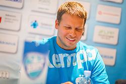 Uros Bregar during press conference of RK Krim Mercator before season 2016/2017, on August 17, 2016 in Ljubljana, Slovenia. Photo by Ziga Zupan / Sportida