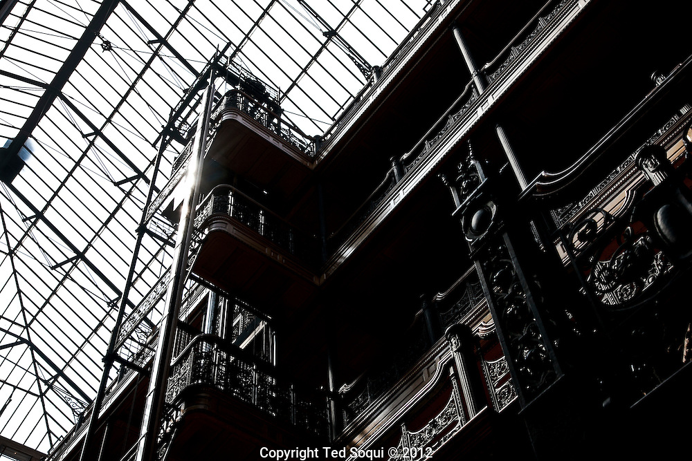 "Inside the Bradbury building. The historic building was featured in the film ""Blade Runner,"" along with several other films."
