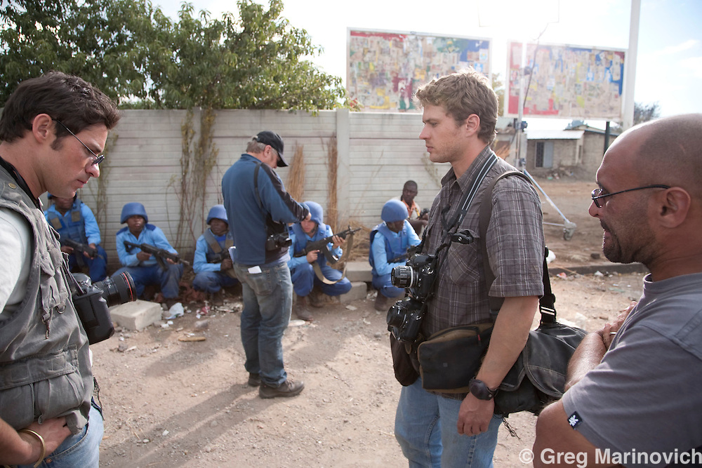 April, 25 & 26, 2009. Bang Bang Club movie set, Khumalo Street, Thokoza, east of Johannesburg, South Africa. The day of Ken Oosterbroek's death next to Mshayazafe hostel, at the hands of the peacekeeper's friendly fire. Photo Greg Marinovich