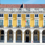 Facade of the building at Lisbon's Terreiro do Paço