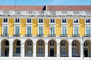 Facade of the building at Lisbon's Terreiro do Paço