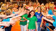 10-6-2015 UTRECHT - Koningin M&aacute;xima is woensdagmiddag 10 juni aanwezig bij het eindconcert van de tweede editie van Kinderen Maken Muziek in de Jaarbeurs in Utrecht. Aan het concert doen ruim 2.000 kinderen mee. Samen voeren zij met muziek en zang een speciaal geschreven sprookje op. COPYRIGHT ROBIN UTRECHT<br /> <br /> 10-6-2015 UTRECHT - Queen M&aacute;xima is Wednesday June 10 attended the final concert of the second edition of Kids Making Music in the Jaarbeurs in Utrecht. At the concert do 2,000 kids. Together they perform with music and song specially written a fairytale. COPYRIGHT ROBIN UTRECHT