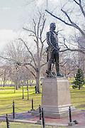 Tadeusz Kosciuszko Statue in the Boston Public Gardens design by Theo Alice Ruggles Kitson 1927. Tadeusz Kosciuszko served with George Washington in the Revolutionary war