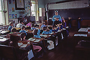 Inside an Amish one room school, Lancaster Co., PA