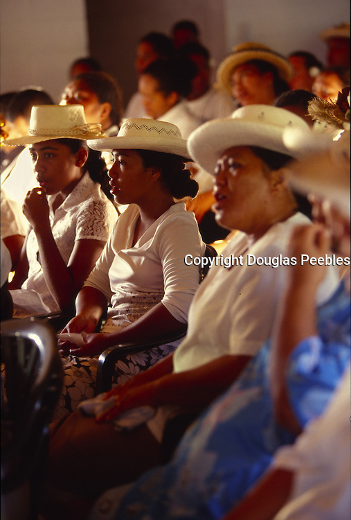 Sunday church service, Aitutaki, Cook Islands, ((editorial use only, no model release)<br />