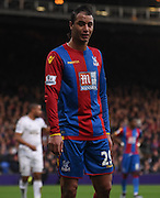 Marouane Chamakh in action on his return during the Barclays Premier League match between Crystal Palace and Swansea City at Selhurst Park, London, England on 28 December 2015. Photo by Michael Hulf.
