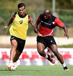 Arnold Garita of Bristol City tussles for the ball with Marlon Pack of Bristol City  - Mandatory by-line: Joe Meredith/JMP - 19/07/2016 - FOOTBALL - Bristol City pre-season training camp, La Manga, Murcia, Spain