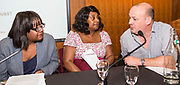 Diane Abbott MP, Baroness Doreen Lawrence and Canon Giles Fraser. The Howard League for Penal reform's Community Awards 2015 The Kings Fund, London, UK. All use must be credited © prisonimage.org