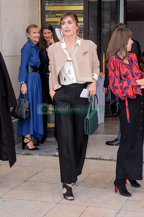Julie Gayet attending the Hermes Fashion Show at Trocadero during Paris Fashion Week Spring Summer 2018 held in Paris, France on October 2, 2017. Photo by Julien Reynaud/APS-Medias/ABACAPRESS.COM