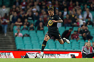SYDNEY, AUSTRALIA - OCTOBER 27: Western Sydney Wanderers defender Josh Risdon (4) dribbles the ball at The Hyundai A-League Round 1 soccer match between Sydney FC and Western Sydney Wanderers FC The Sydney Cricket Ground in Sydney on October 27, 2018. (Photo by Speed Media/Icon Sportswire)
