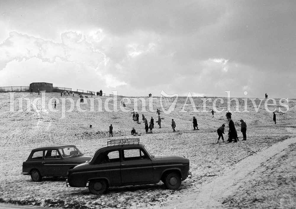 Snow in the Phoenix Park in Dublin, 29/12/62.<br />
