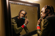 Rapper Young Thug hangs out with friends in Star Status Studio in Atlanta, Georgia before recording a new track March 28, 2013.