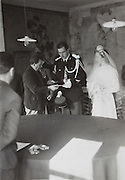 wedding ceremony at the city hall France 1952