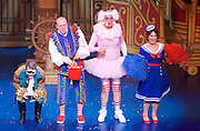 Dick Whittington <br /> by Eric Potts <br /> directed by Ian Talbot<br /> at New Wimbledon Theatre, Wimbledon, London, Great Britain <br /> rehearsal <br /> 8th December 2016 <br /> <br /> <br /> Paul Baker as Alderman Fitzwarren/Sultan <br /> <br /> Tim Vine as idle Jack <br /> <br /> Matthew Kelly as Sarah the Cook <br /> <br /> Arlene Phillips as Fairy Bowbells <br /> <br /> <br /> <br /> <br /> Photograph by Elliott Franks <br /> Image licensed to Elliott Franks Photography Services