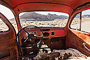 Abandoned pick up truck in the ghost town of Rhyolite, NV.