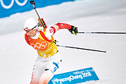 South Korea, PyeongChang - 2018 February 22: Krystyna Guzik from Poland competes while Biathlon Women's 4x6km Relay Final during The 2018 PyeongChang Olympic Winter Games at Alpensia Biathlon Centre on February 22, 2018 in PyeongChang, South Korea.<br /> <br /> Mandatory credit:<br /> Photo by &copy; Adam Nurkiewicz<br /> <br /> Adam Nurkiewicz declares that he has no rights to the image of people at the photographs of his authorship.<br /> <br /> Picture also available in RAW (NEF) or TIFF format on special request.<br /> <br /> Any editorial, commercial or promotional use requires written permission from the author of image.
