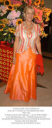 Actress DAME HELEN MIRREN at a dinner in London on 2nd September 2003.<br /> PMA 156